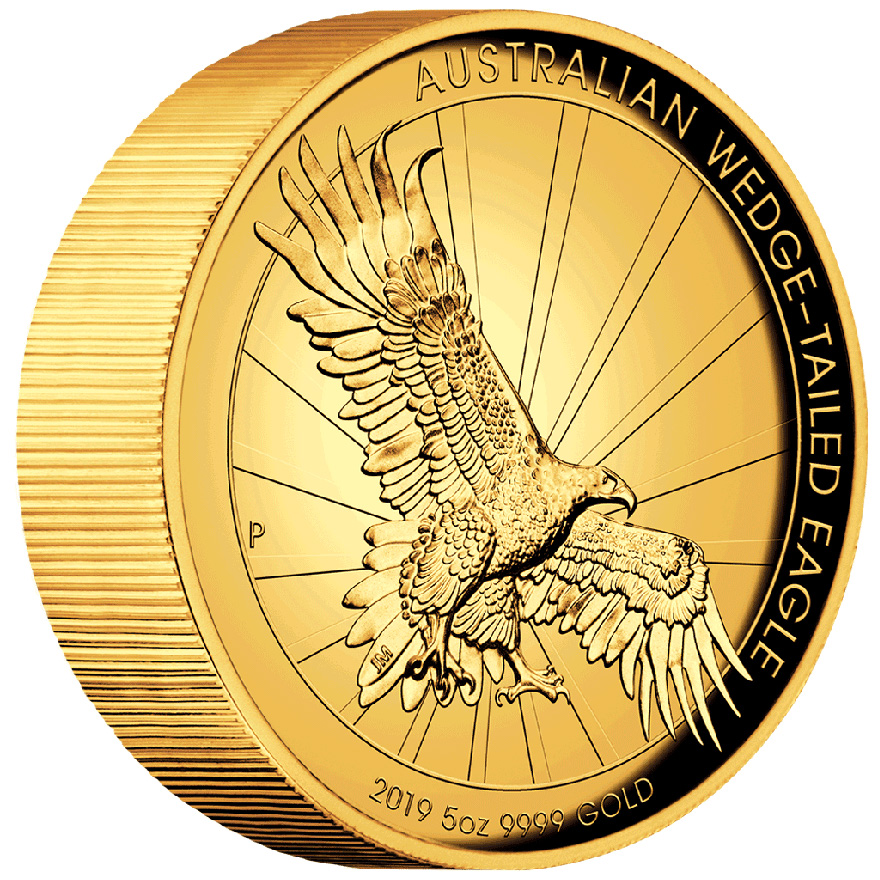 Gold Wedge Tailed Eagle 5 oz PP HR