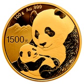 Gold China Panda 100 g PP - 2019