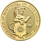 Gold The White Lion of Mortimer 1 oz - The Queen´s Beasts 2020