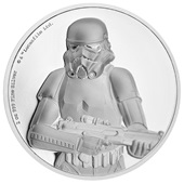 Silber Star Wars Stormtrooper 2 oz Ultra High Relief 2018