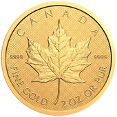 Gold 2 oz Maple Leaf - Reverse Proof 2021