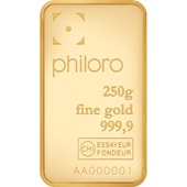 Goldbarren 250g - philoro