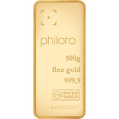 Goldbarren 500g - philoro
