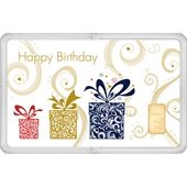 "Goldbarren 0,5 g - philoro Geschenkkarte ""Happy Birthday"""