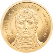 Gold Napoleon Bonaparte 0,5 g - 200th Anniversary  - Ultra High Relief