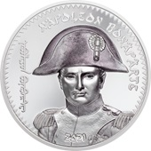 Silber Napoleon Bonaparte 1 oz - High Relief - coloriert