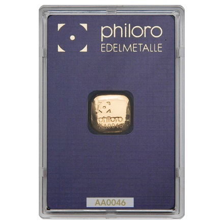 Goldbarren 1oz gegossen - philoro