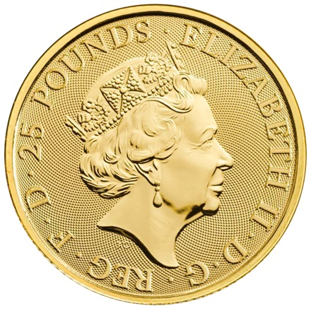 Gold The Yale of Beaufort 1/4 oz - The Queen's Beasts 2019