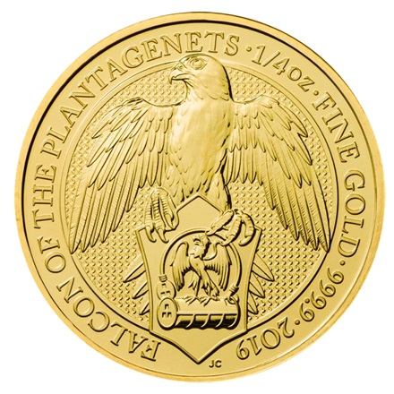 Gold Falcon of the Plantagenets 1/4 oz - Queen´s Beasts 2019