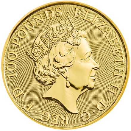 Gold Falcon of the Plantagenets 1 oz - Queen´s Beasts 2019