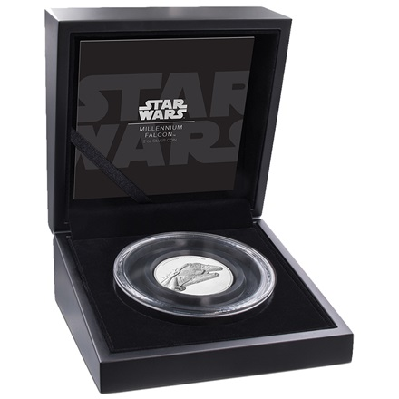 Silber Star Wars Millenium Falke 2 oz Ultra High Relief - 2019