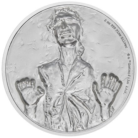 Silber Star Wars Han Solo 2 oz Ultra High Relief 2017