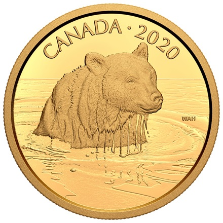 Gold 35 g - Canadian Wildlife - Grizzlybär 2020 - PP