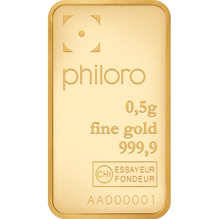 Goldbarren 0,5g - lose - philoro