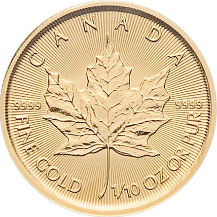 Gold Maple Leaf 1/10