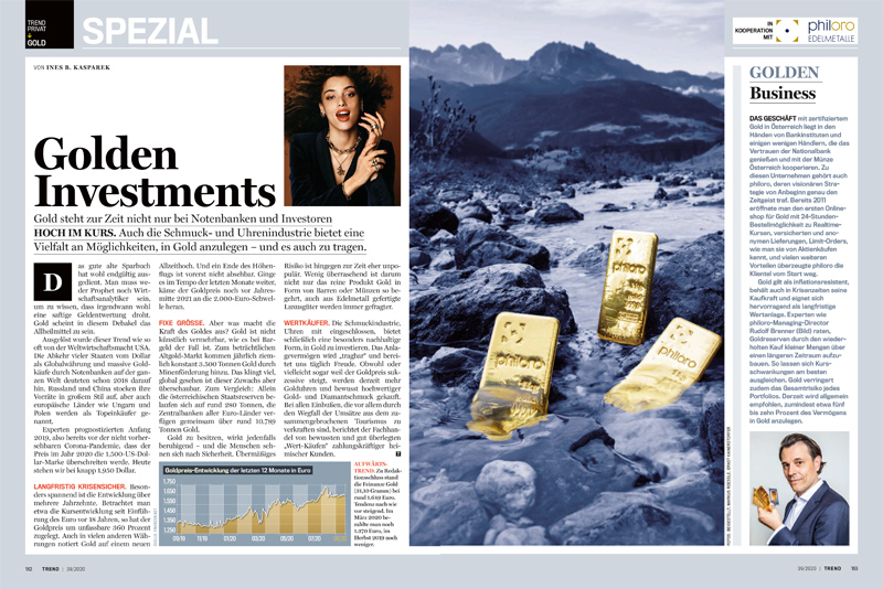 Trend Ausgabe 39/2020 Golden Investments